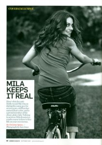 lowrider bikes picture Mila Kunis on Electra Deluxe Cruiser