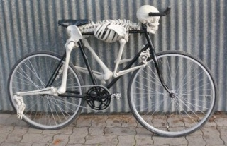 Skeleton Bicycle for Halloween